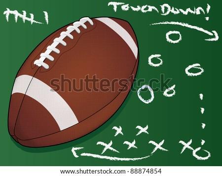 Highly detailed vector football/Football Touchdown/American Football - stock vector