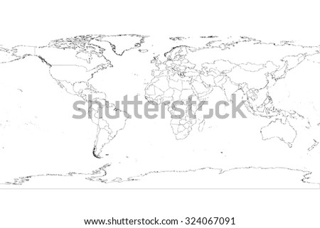 Highly detailed World Map Vector illustration - stock vector