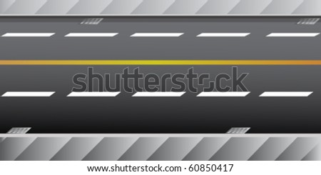 highway illustration - stock vector