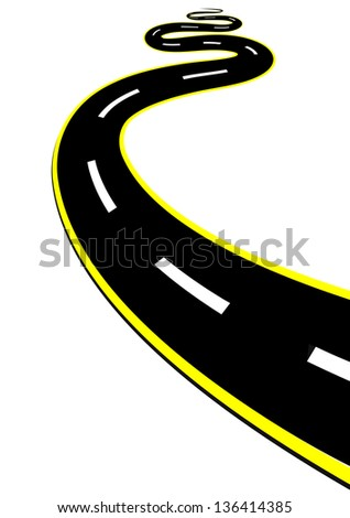 highway isolated on the white - stock vector