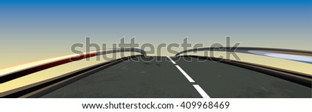 Highway Road - stock vector