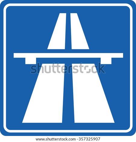 Highway Signs Traffic Signsmotorway Stock Vector 357325907