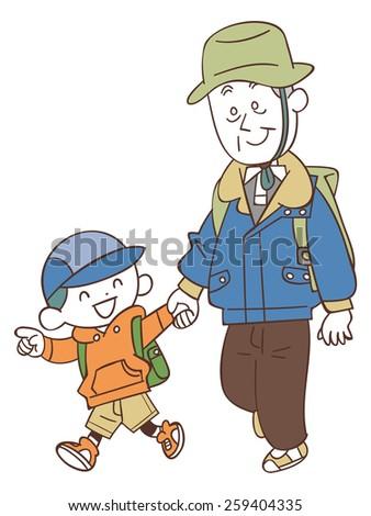 tall short man cartoon characters vector stock vector
