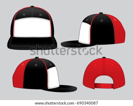 hip hop hats design template stock vector 690340087 shutterstock