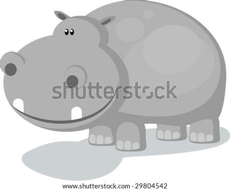 hippo - stock vector