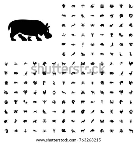 Hippopotamus icon illustration isolated vector sign symbol. animals icon set for web and mobile.