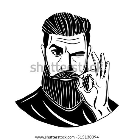 Hipstera Bearded Man S...