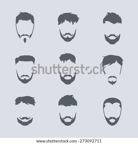hipster avatar set - stock vector