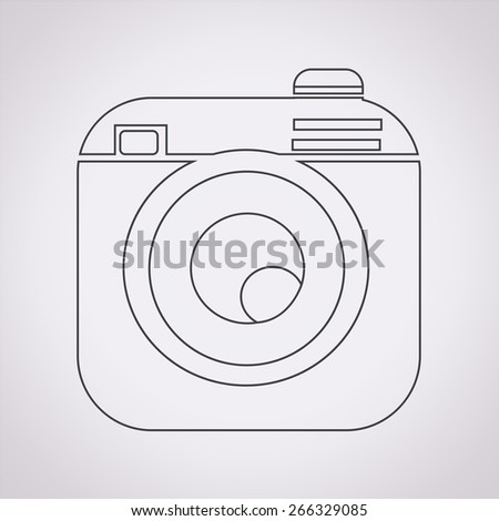 Hipster camera photo icon