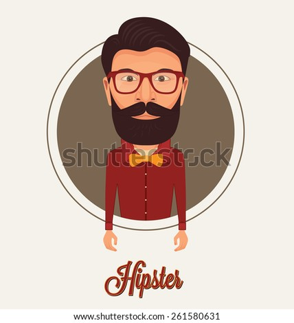 Hipster Character - stock vector