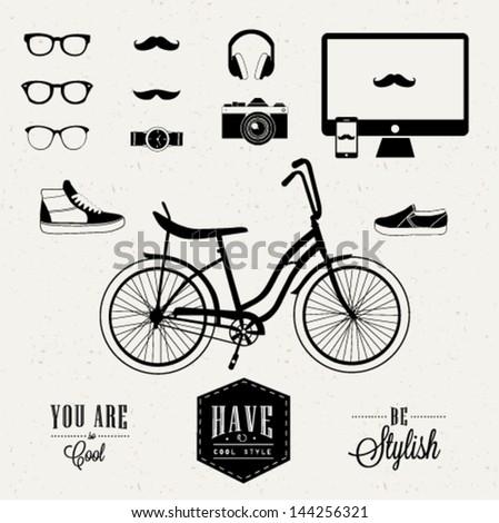 Hipster design - stock vector