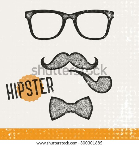 Hipster elements - stock vector