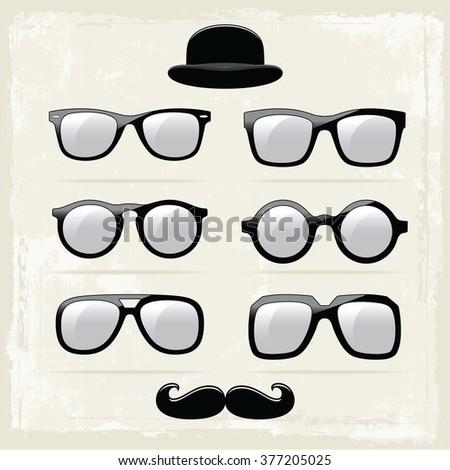Hipster Glasses - stock vector