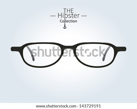 Hipster glasses, Hipster man. Vector illustration. - stock vector