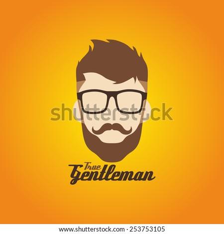 hipster guy art - stock vector