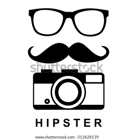 Hipster icons vector - stock vector