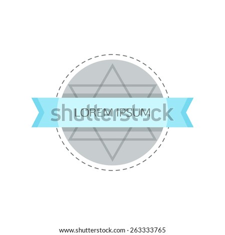 Hipster label. Retro label in vector. Eps10 - stock vector
