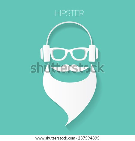 hipster man icon. Fashion silhouette hipster style, vector illustration - stock vector