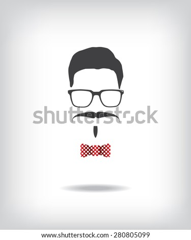Hipster man illustration - stock vector