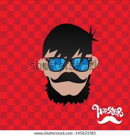 Hipster men - stock vector