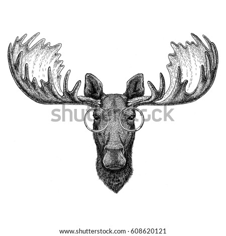 Moose Tattoo Stock Images Royalty-Free Images U0026 Vectors | Shutterstock