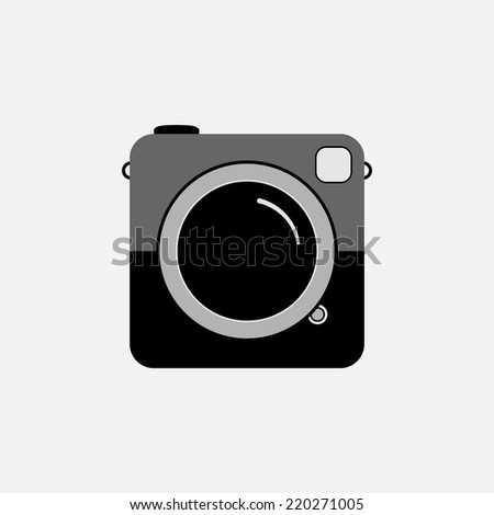 Hipster photo or camera icon. EPS10 vector. - stock vector