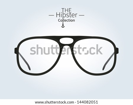 Hipster sunglasses, Hipster man. Vector illustration. - stock vector