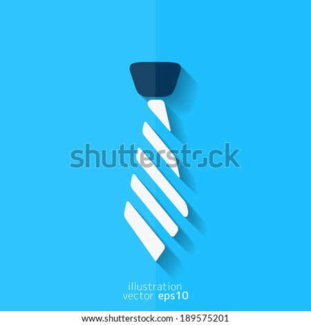 Hipster tie icon - stock vector