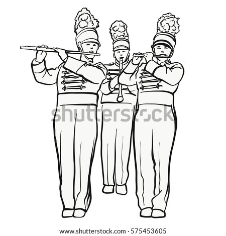 Marching Band Clipart Black And White | www.pixshark.com ...