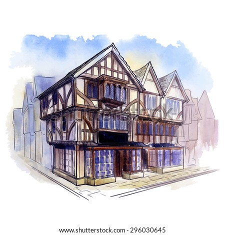 Tudor house stock images royalty free images vectors for Residential architecture styles