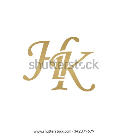 hk initial monogram logo stock vector 342379751 - shutterstock