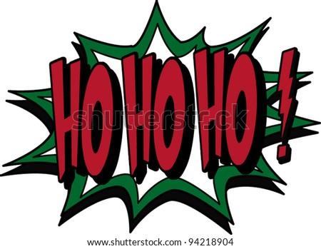 ho ho ho - stock vector