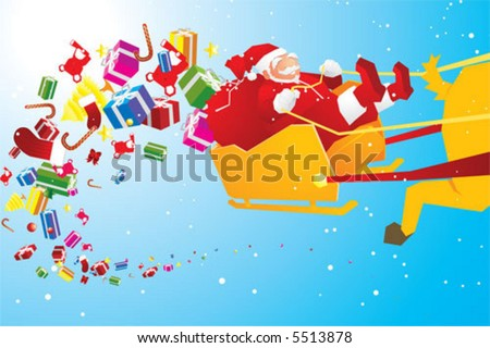 ho ho ho merry christmas - stock vector