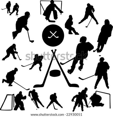 hockey collection - vector - stock vector