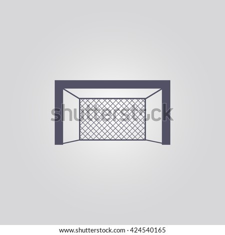 hockey gate icon. hockey gate vector. hockey gate sign