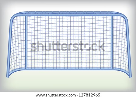 Hockey goal. - stock vector