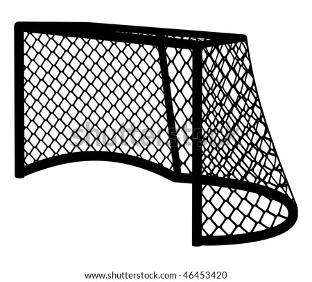 Hockey goal silhouette  vector illustration. - stock vector