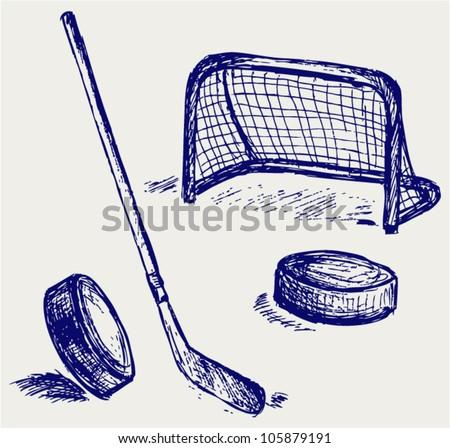 Hockey icon - stock vector