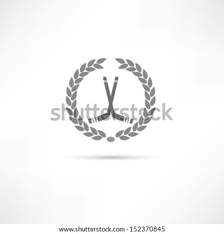hockey icon - stock vector