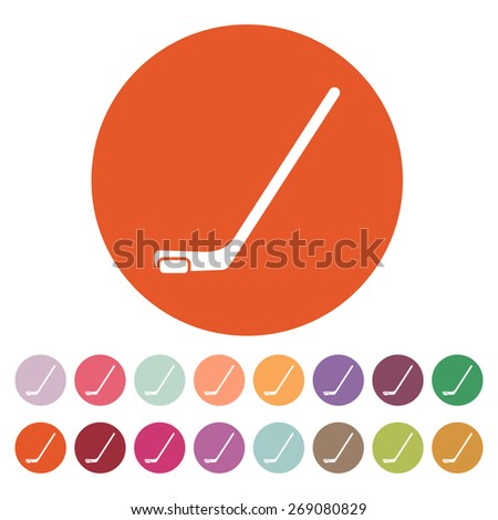 Hockey icon. Game symbol. Flat Vector illustration. Button Set - stock vector