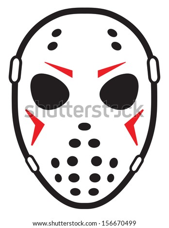 Jason Voorhees With Hockey Mask on batman helmet