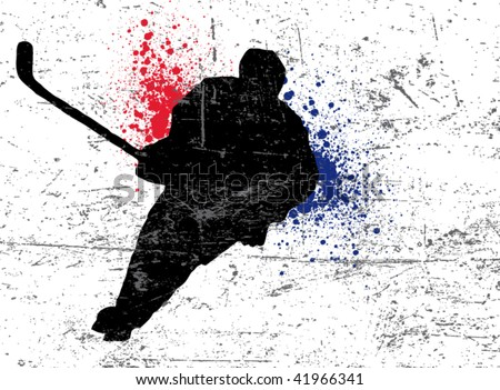 hockey poster - stock vector