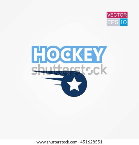 Hockey Puck Logo Icon