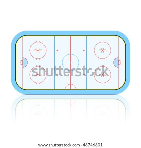 Hockey Rink. Detailed vector. - stock vector