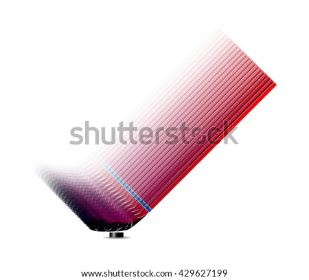 Hockey stick - stock vector