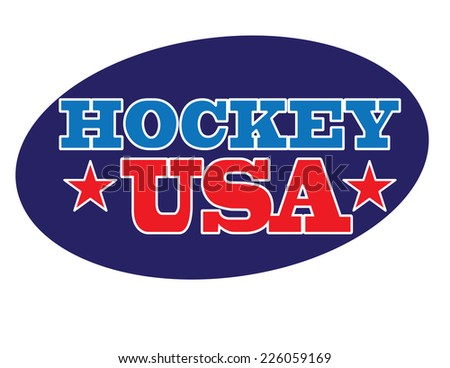 Hockey USA Vector