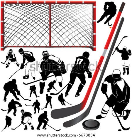 hockey vector 2 - stock vector