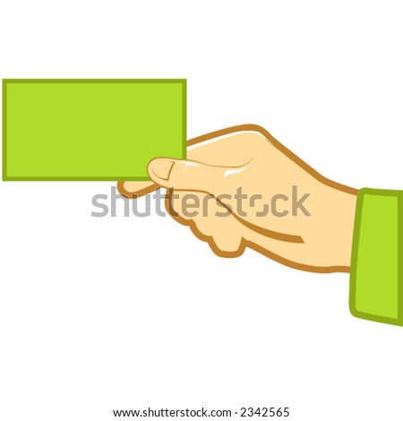 Holding blank business card