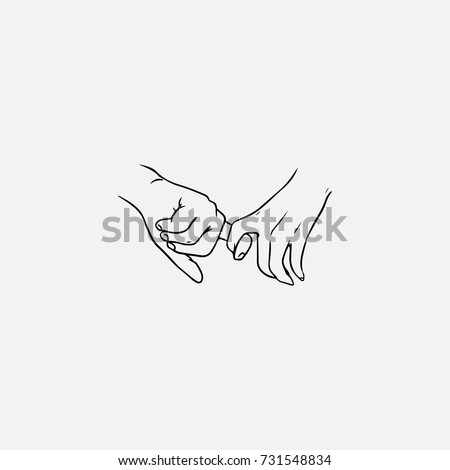 Intimacy Holding Hands Drawings
