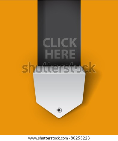 hole in background made for your text, shadows are transparent (can be set to any color) - stock vector